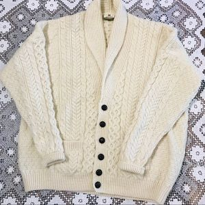 Carraigdon Irish wool fisherman's sweater XXL